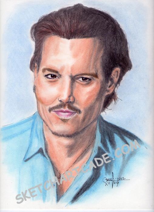 Johnny Depp por sketchartcade
